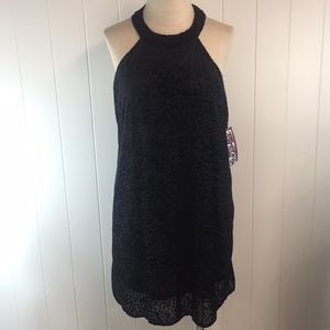 Trixxi Animal Print Black Dress